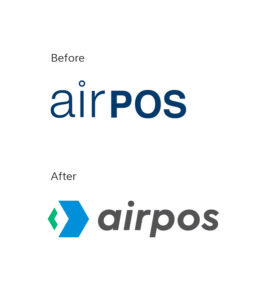 Airpos brand refresh before and after