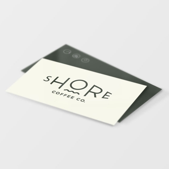 Coffee Shop business card design vancouver
